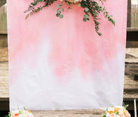 Dip dyed ceremony backdrop