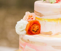 peach wedding cake