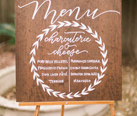 wood menu sign
