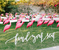 flamingo wedding details