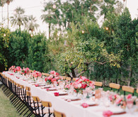 long pink tablescape