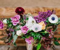 lilac fall wedding flowers