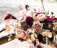 dusty mauve wedding flowers
