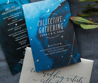 night sky inspired wedding invitations
