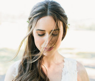 simple bridal portrait