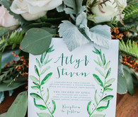 rustic summer canyon wedding invites