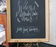 baby shower chalkboard sign