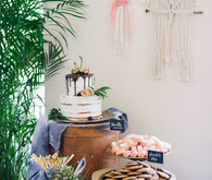 boho baby shower dessert table