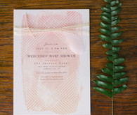 watercolor baby shower invite