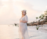 sunset boho maternity photos