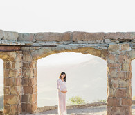Dressy family maternity photos
