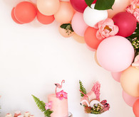 Tropical flamingo girl's birthday party by The Shift Creative