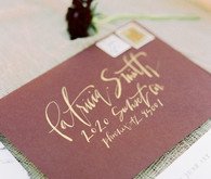 elegant fall wedding invitations