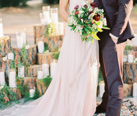 boho fall wedding portraits