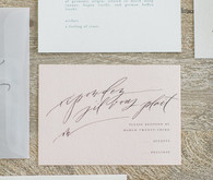 elegant blush wedding invitations