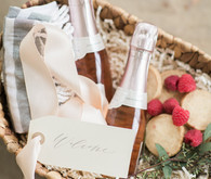 champagne welcome basket