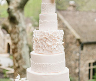 five layer wedding cake