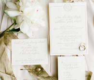 cream wedding details