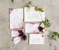 romantic watercolor wedding invites