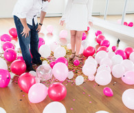 gender reveal balloon drop
