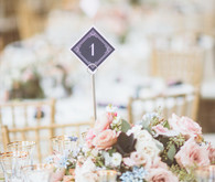 Modern pink and blue wedding ideas