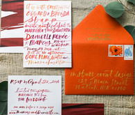 handwritten wedding invites