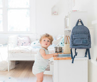 modern pastel shared kids room