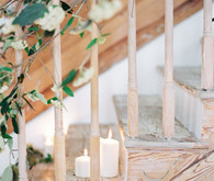 romantic indoor wedding ceremony