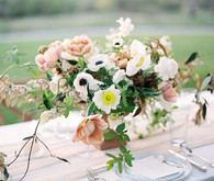wild romantic spring centerpiece