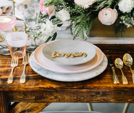pink tablescape