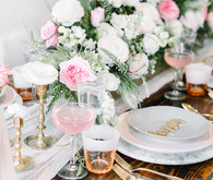 pink and grey wedding