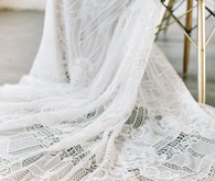 crochet lace wedding gown