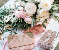 pink bridal accessories