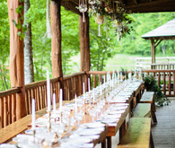 long rustic tablescape