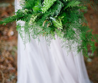 rustic woodsy green bouquet