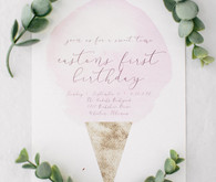 ice cream first birthday invite