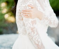 Lace long sleeved wedding dress