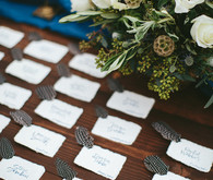 Wedding place card station