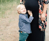 Rustic fall family maternity photos