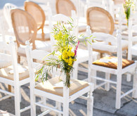 Mixed matched wedding chairs