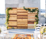 Roof top wedding ceremony