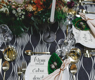 Tropical modern wedding decor