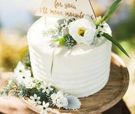 rustic mountain cake topper