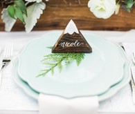 wooden mountain place cards