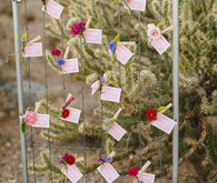 DIY escort card display