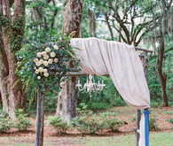 Elegant wedding arbor