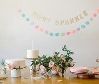 modern girl's 1st birthday