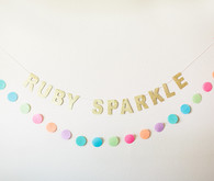 cute birthday garland