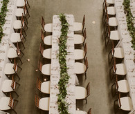 Green garland centerpiece