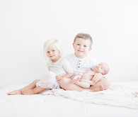 All white newborn photos